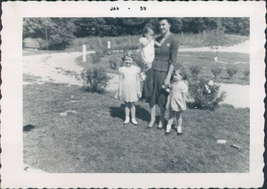 mother with three girls