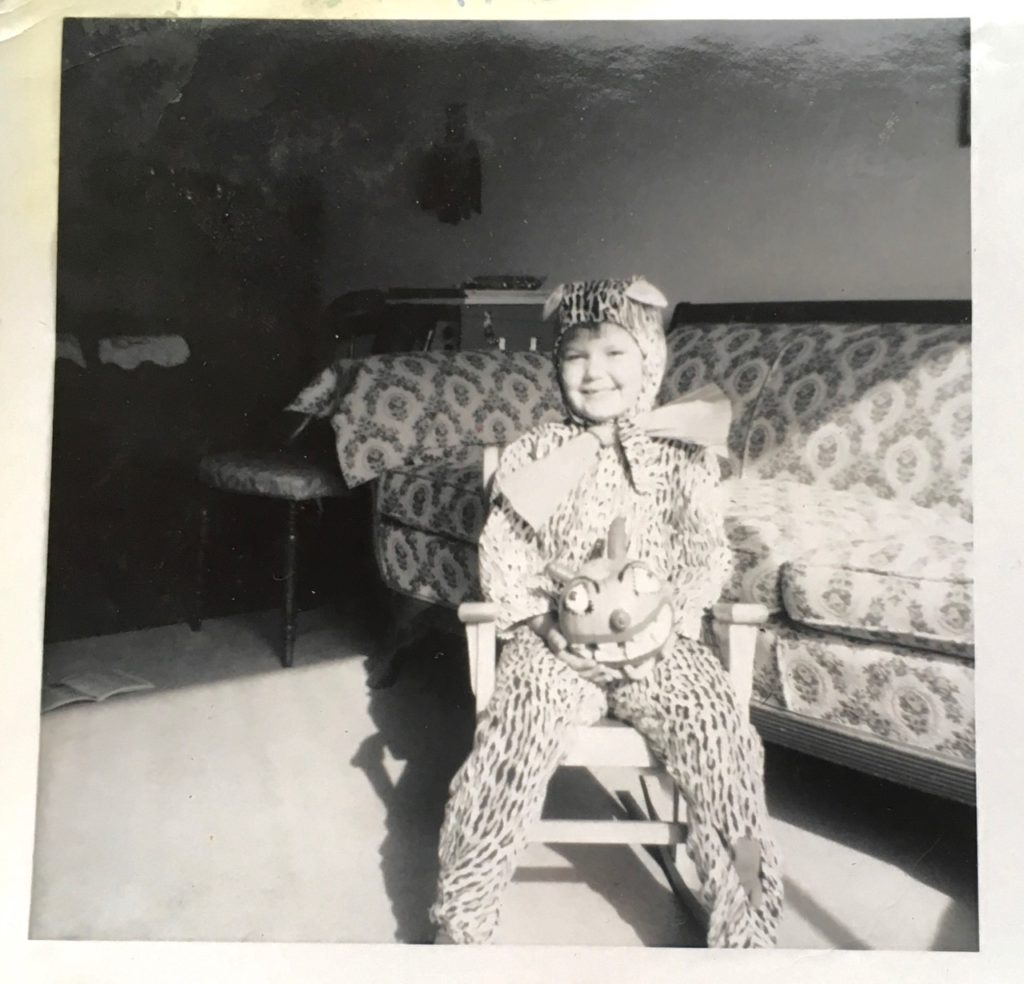 girl dressed as a leopard