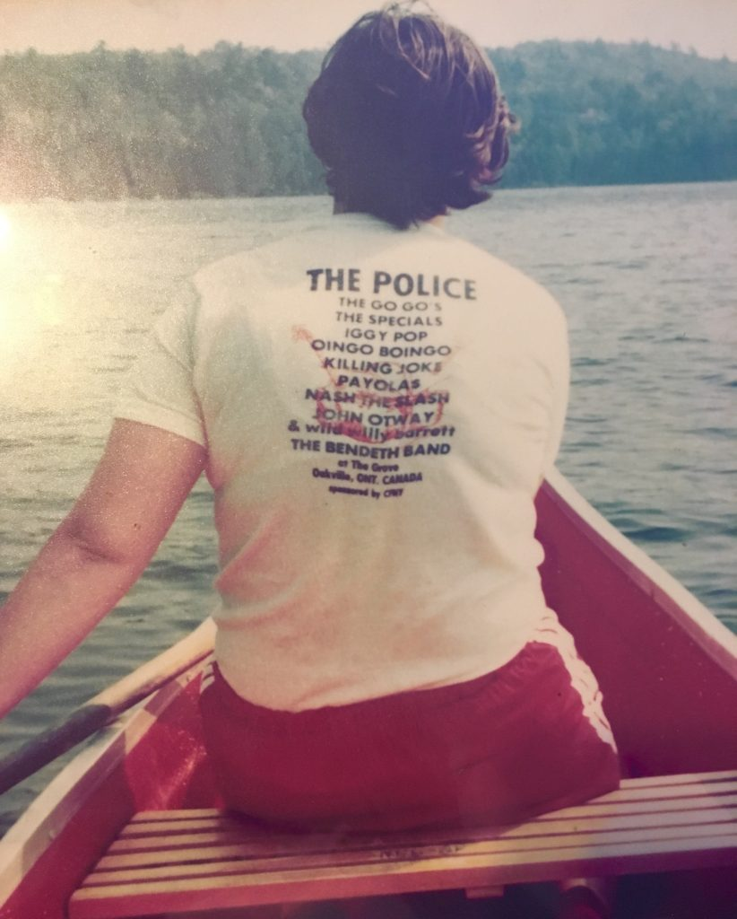 Back of a concert t-shirt from the police picnic 1981