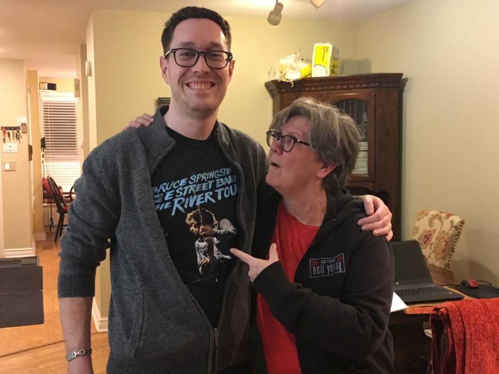 two people in rock t-shirts