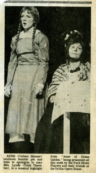 newspaper clipping of Anne of Green Gables actors